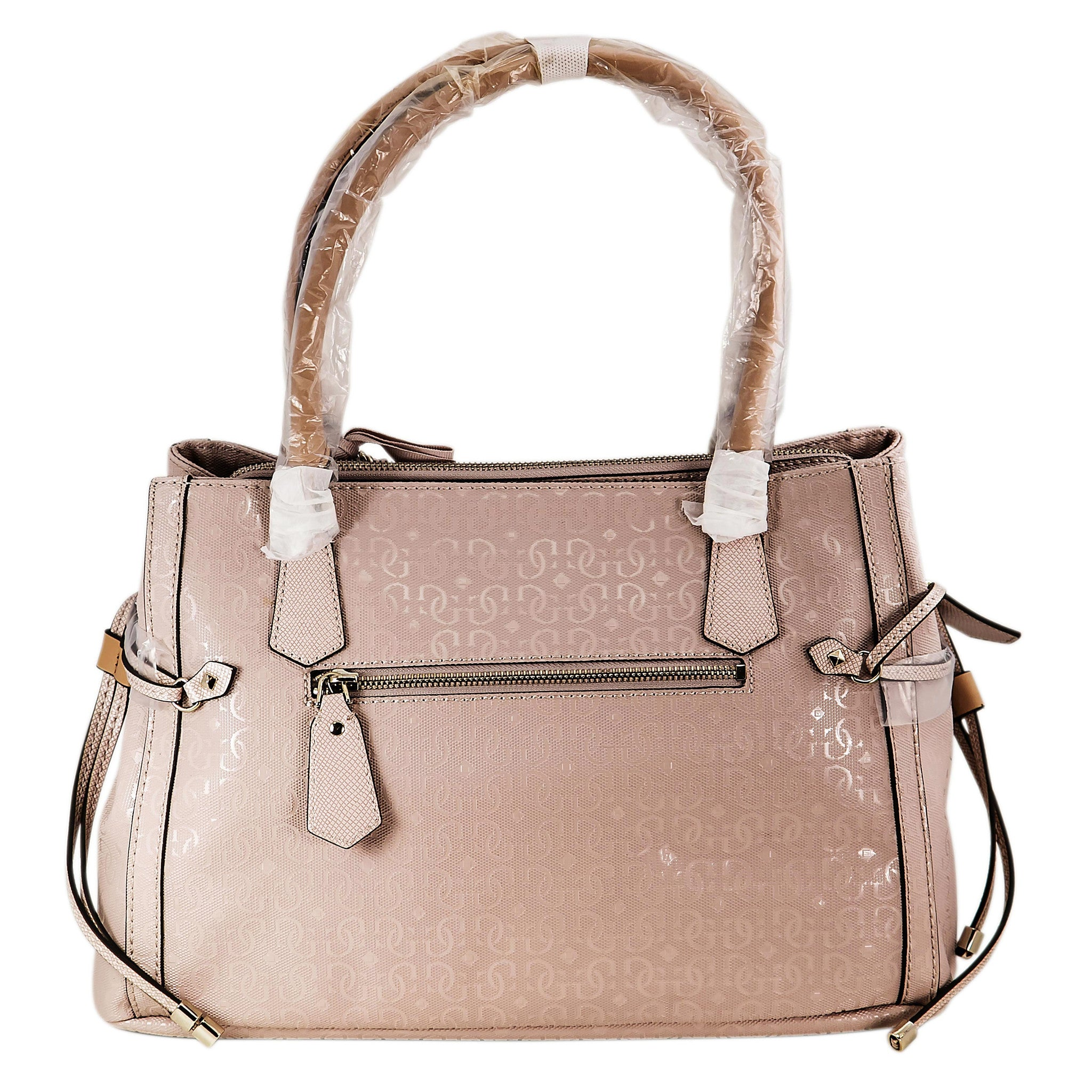Guess SG480923LTR Women's Juliet Girlfriend Light Rose Leather Dual Handles Satchel