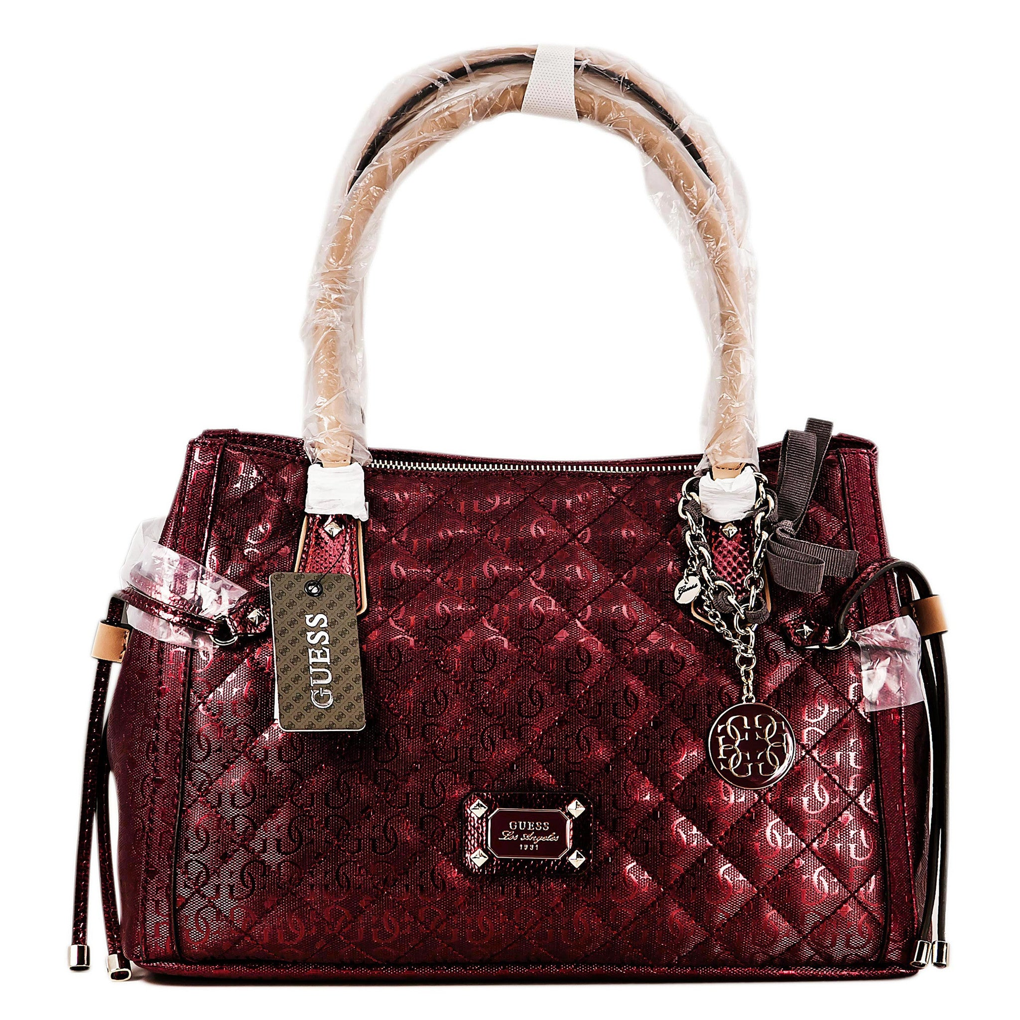 Guess SM480923LIP Women's Juliet Girlfriend Lipstick Red Leather Dual Handles Satchel