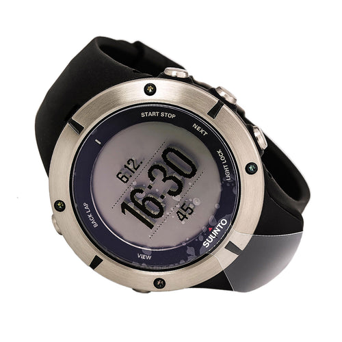 Suunto SS019183000 Men's Ambit2 HR Belt Sapphire GPS Digital Black Dial Black Strap Watch