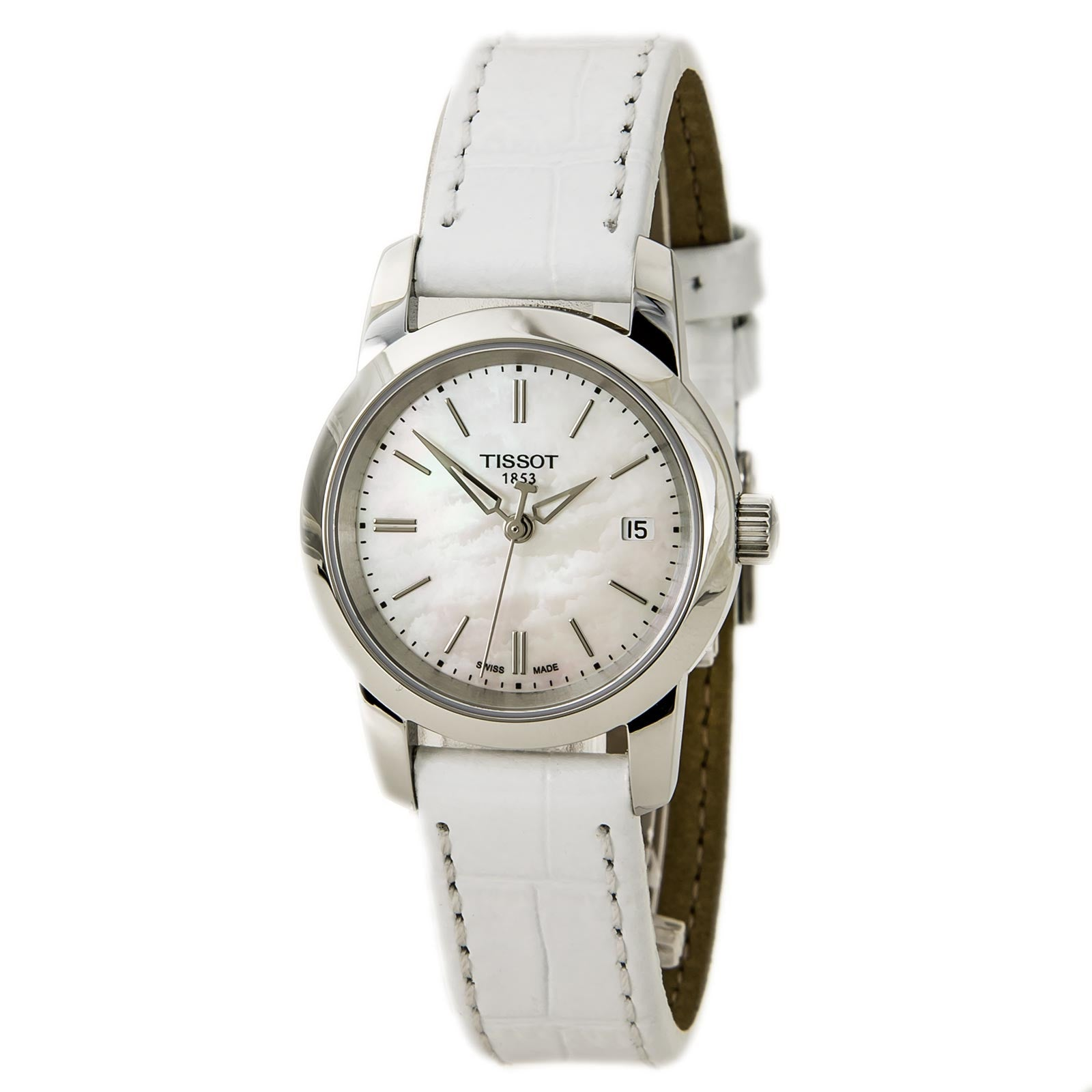 Tissot Womens Watches For Sale Online At T Race Ladies T0482171701700 T0332101611100 Classic Dream Mop White Dial Leather Strap Watch