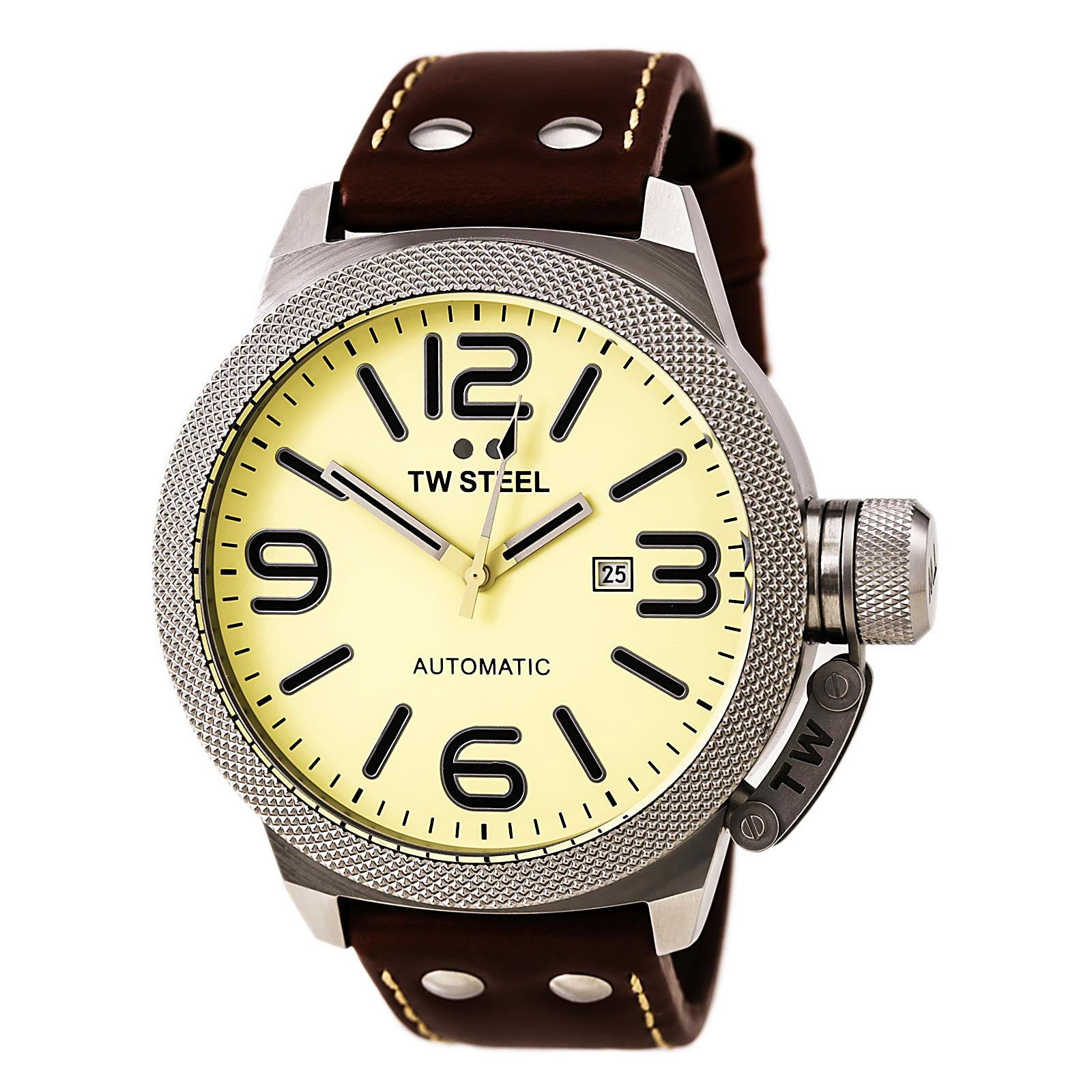 TW Steel Gent's TWA953 Canteen Brown Leather Band Automatic Watch