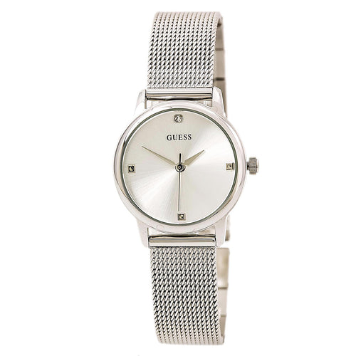 Guess U0532L1 Women's Diamond Silver Tone Dial Steel Mesh Bracelet Watch