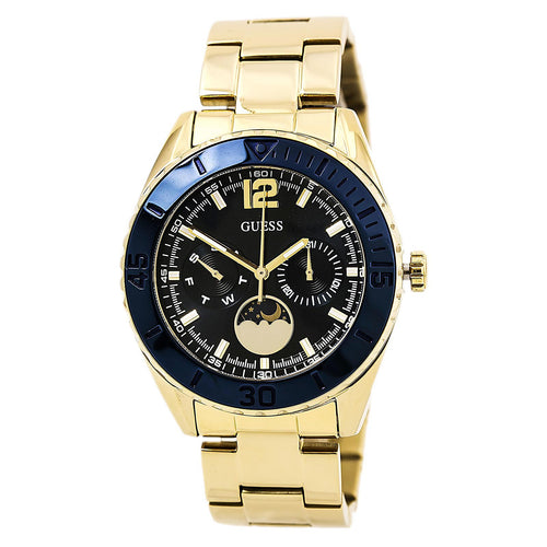 Guess U0565L4 Women's Indigo Illusion Blue Dial Yellow Gold Steel Bracelet Watch