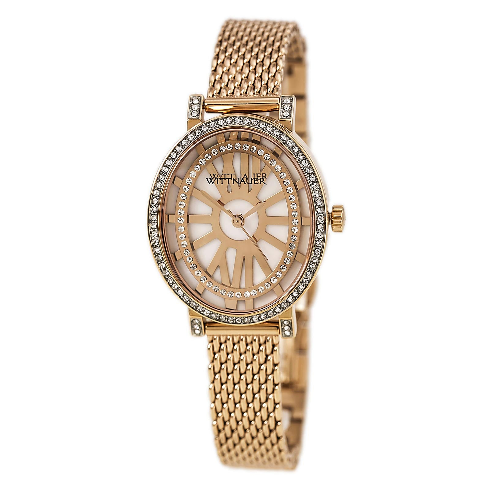 Wittnauer Wn4039 Womens Charlotte White Mop Dial Rose Gold Watch image