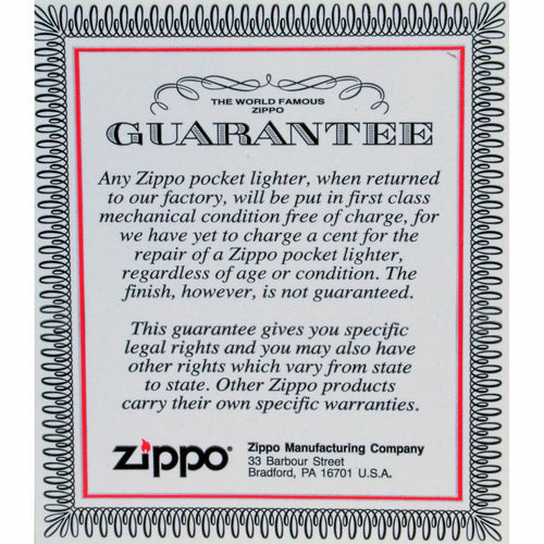 Zippo 0091 Classic Matte Black Playboy Bunny Windproof Pocket Lighter