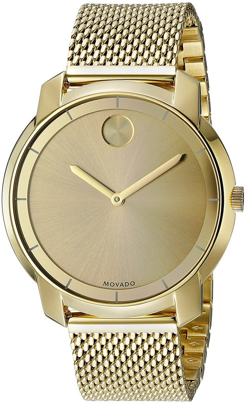 Movado Bold Mesh Yellow-Gold Plated 36mm Ladies Watch 3600242