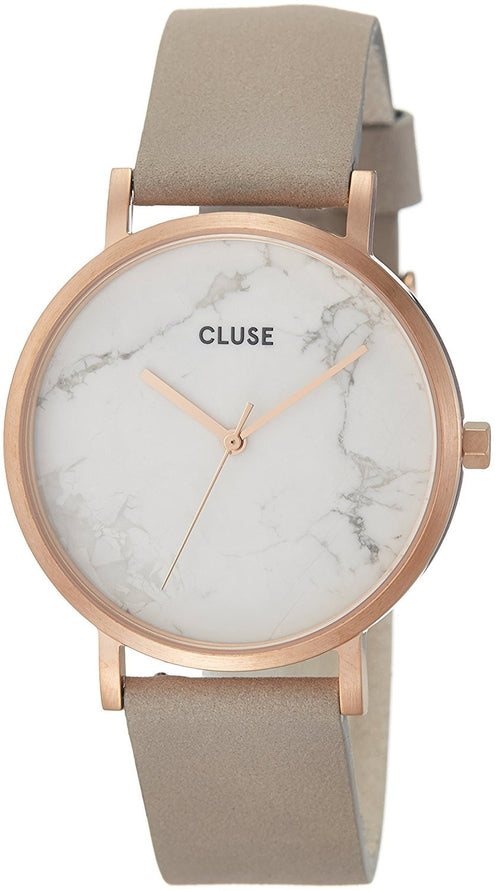 Cluse La Roche Rose Gold, Marble & Grey Stainless Steel Watch CL40005