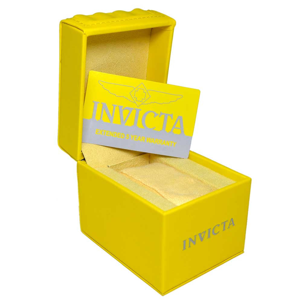 Invicta 13829 Miniature Reserve Bolt Gold Tone Bezel Black Dial Stainless Steel Desk Clock