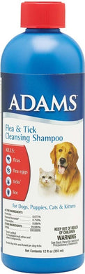 Adams Flea & Tick Cleansing Shampoo - 12 Oz.