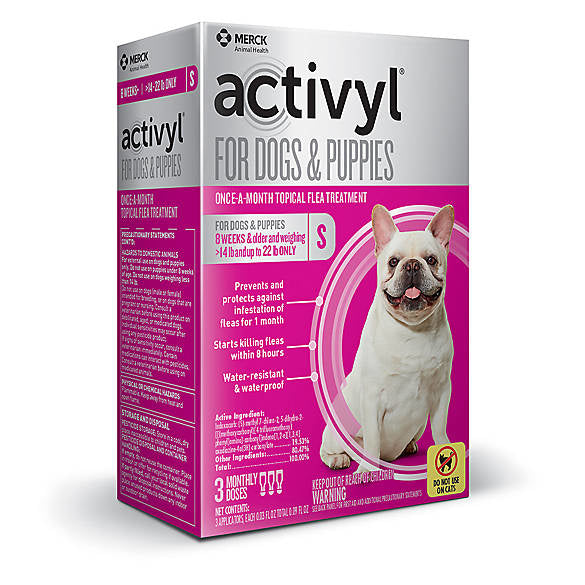 Activyl for Small Dogs and Puppies 15-22 LBS 3-Month Supply