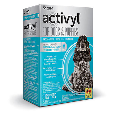 Activyl for Medium Dogs & Puppies 23-44 LBS 3-Month Supply