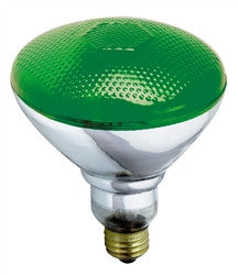 S4427 100W 120V BR38 Green E26 Base Incandescent light bulb