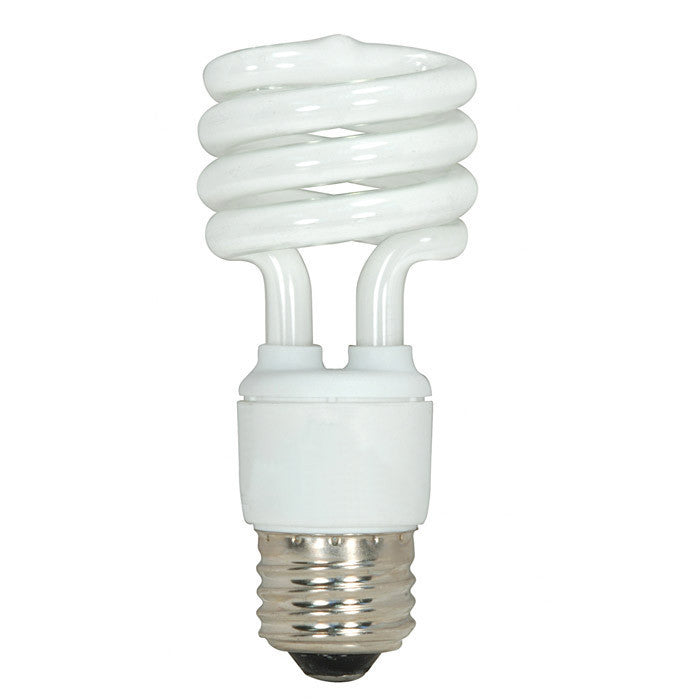 Satco S7217 13W T2 Ultra Mini Spiral Light Bulb Screw-In 2700K fluorescent bulb