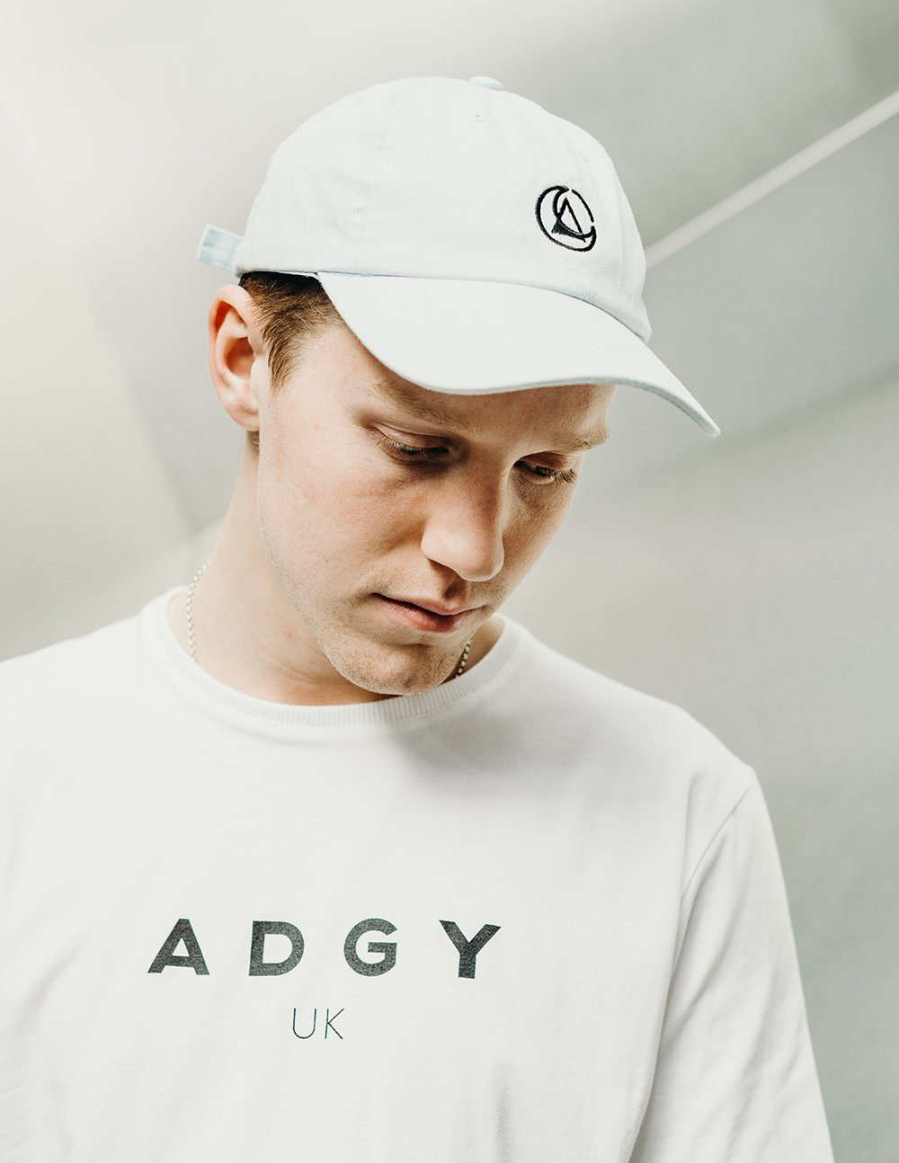 blue embroidered cap by ethical gender neutral streetwear fashion brand Androgyny UK