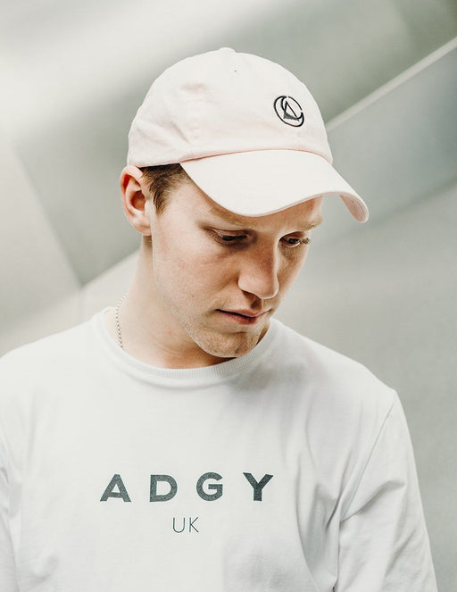 pink embroidered cap by ethical gender neutral streetwear fashion brand Androgyny UK