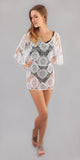 White Lace Crochet Cover-Up