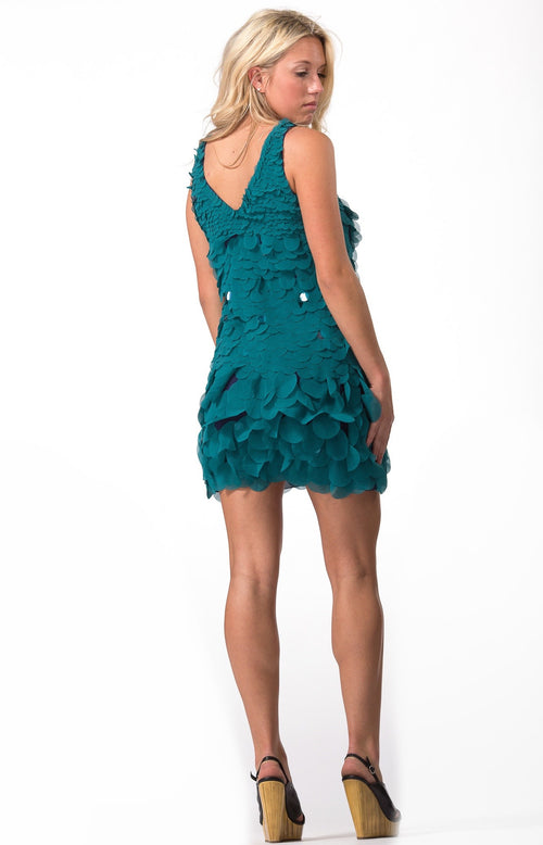 Teal Sleeveless Cocktail Dress