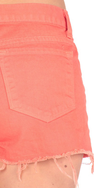 J Brand Tangerine Cut Off Denim Shorts