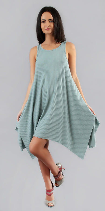 Lightweight Viscose Crepe Cold Shoulder Dress