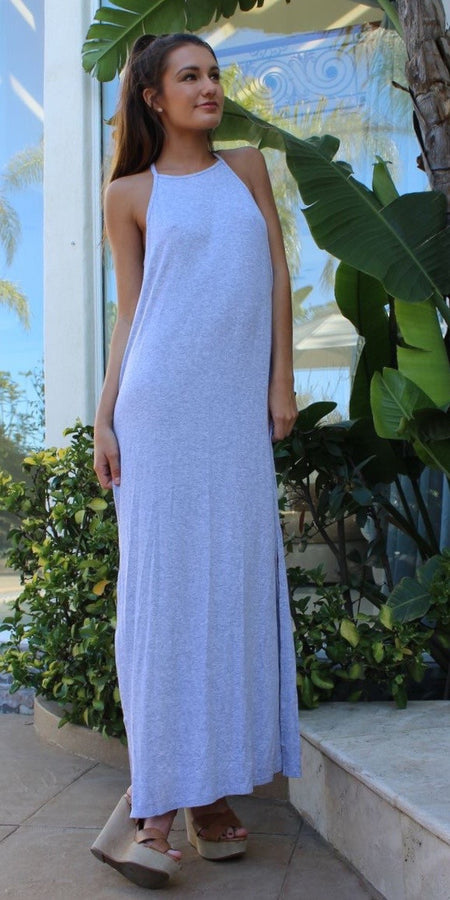 Mauve Pink Wrap Floral Maxi Dress