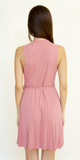 Pink Sleeveless Modal Jersey Wrap Dress