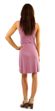 Purple Sleeveless Modal Jersey Wrap Dress