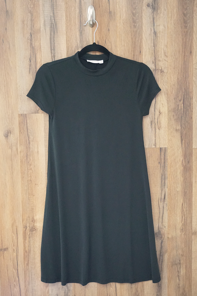Black Swing T Shirt Dress