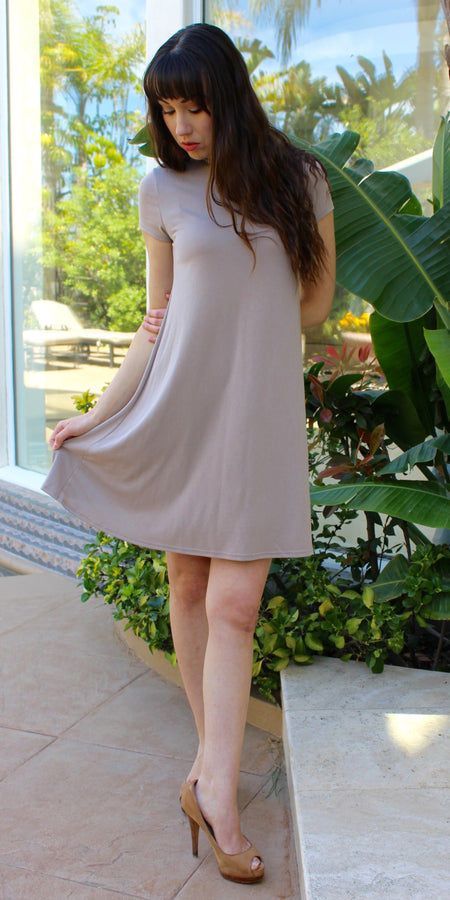 Distressed Cotton Jersey T Shirt Dress