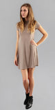 Beige Swing T Shirt Dress
