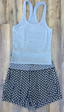 Heather Grey Racer Back Ribbed Tank Top