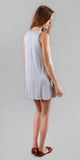 Grey Sleeveless Knit Jersey Mini Dres