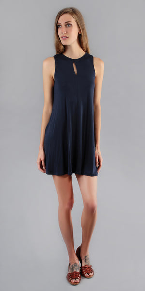 Sleeveless Jersey Knit Mini Dress