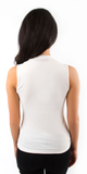 Ivory Sleeveless Ribbed Knit Top