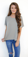 Light Green Split Open Back T Shirt