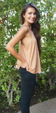 Wide Ribbed Racer Back Tank Top