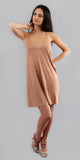 Apricot Spaghetti Strap Sun Dress