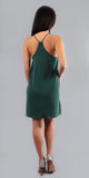 Hunter Green Mini Jersey Tank Dress