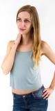 Sand-Washed Jersey Crop Tank Top