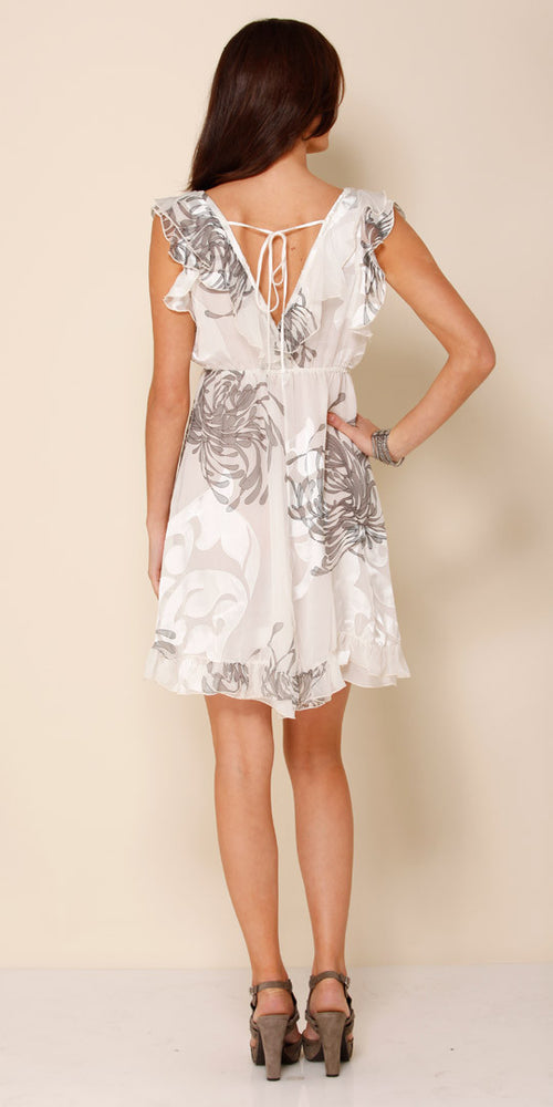 Ivory Ruffled Silk Sundress