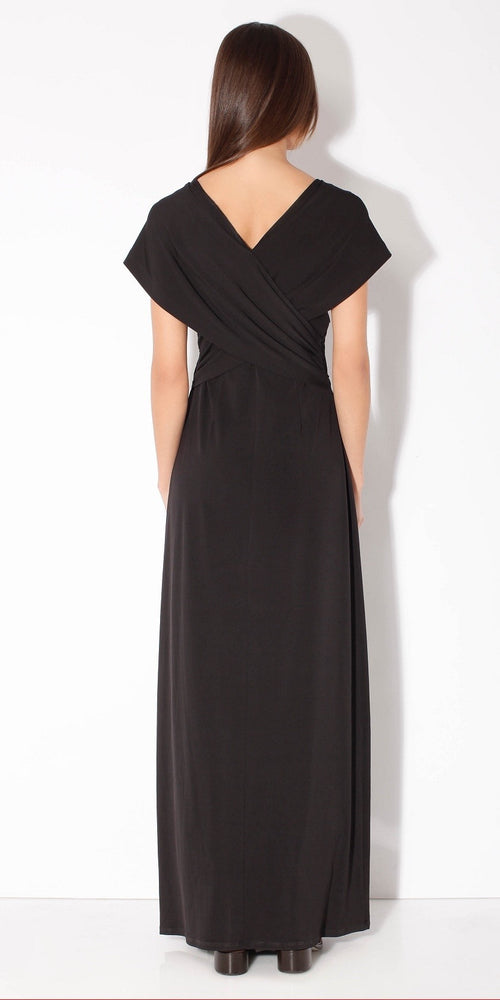 Black Wrapped Maxi Dress