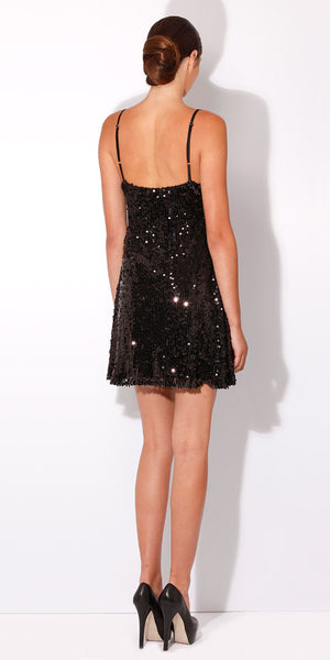 Black Cami Sequin Dress