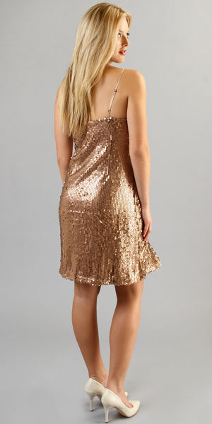Copper Cami Sequin Dress