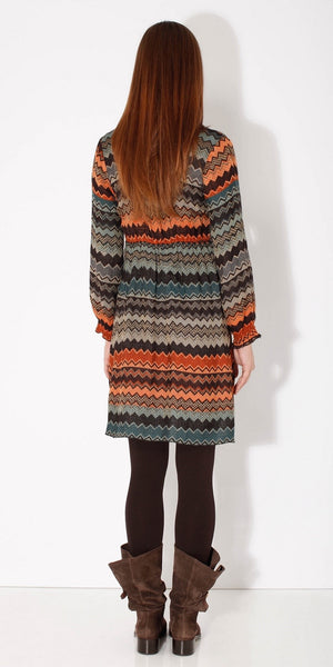 Zig Zag Knit Shift Dress
