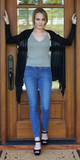 Black Gauzy Swing Cardigan