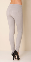 Grey Basic Stretch Ponte Leggings