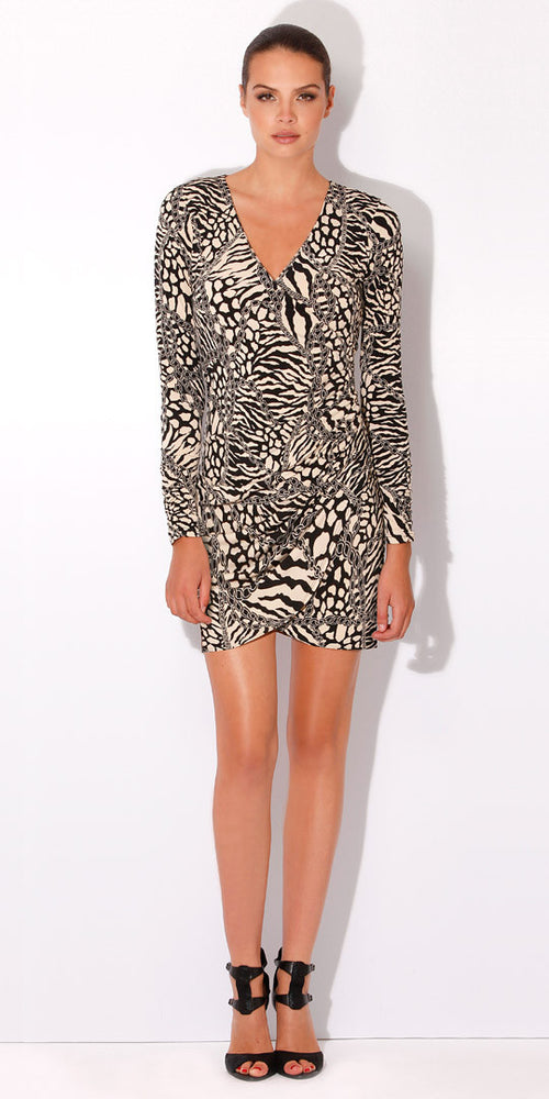 Black And White Animal Print Dress
