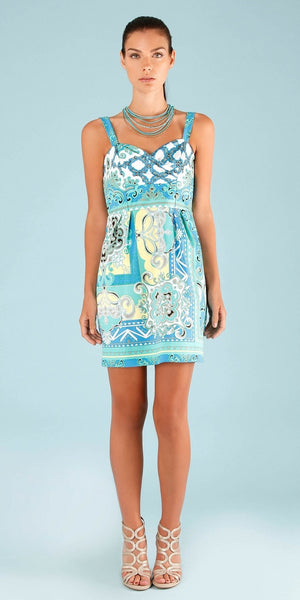 Printed Blue Cotton Sundress