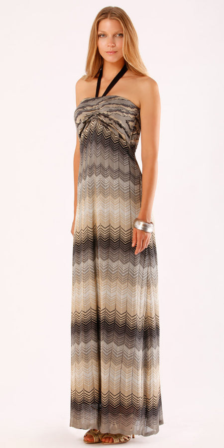Strapless Crinkle Gauze Maxi Dress