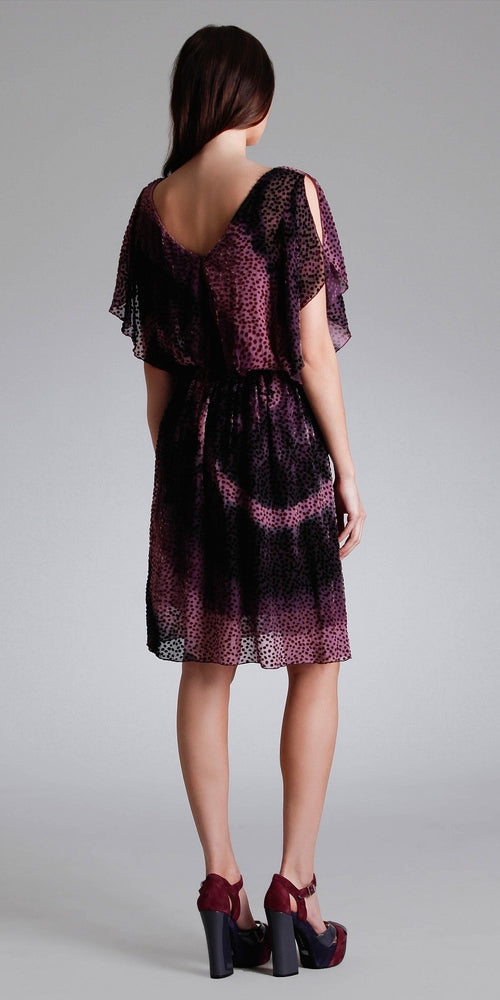Purple Silk Velvet Dress