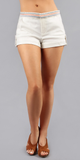 Embroidered Cotton Sateen Shorts